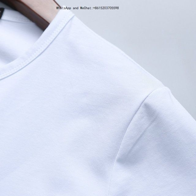 Nouveau modèle de l'homme manches courtes revers T-shirts pour hommes de mode T-shirt Homme pur coton jeune et loisirs 0308