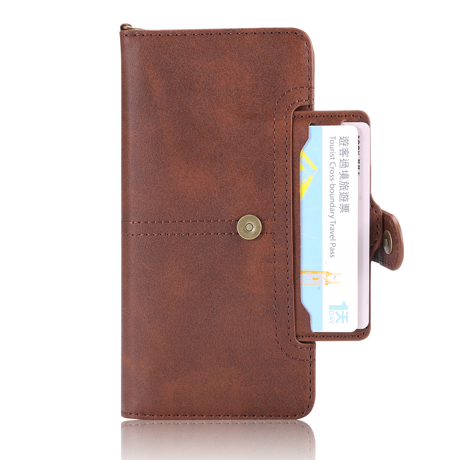 For Samsung Note 9 Phone Case 2-in-1 Vintage Leather Magnetic Flip Wallet Case Full Protection Anti-Knock for Samsung S8 S9 S10