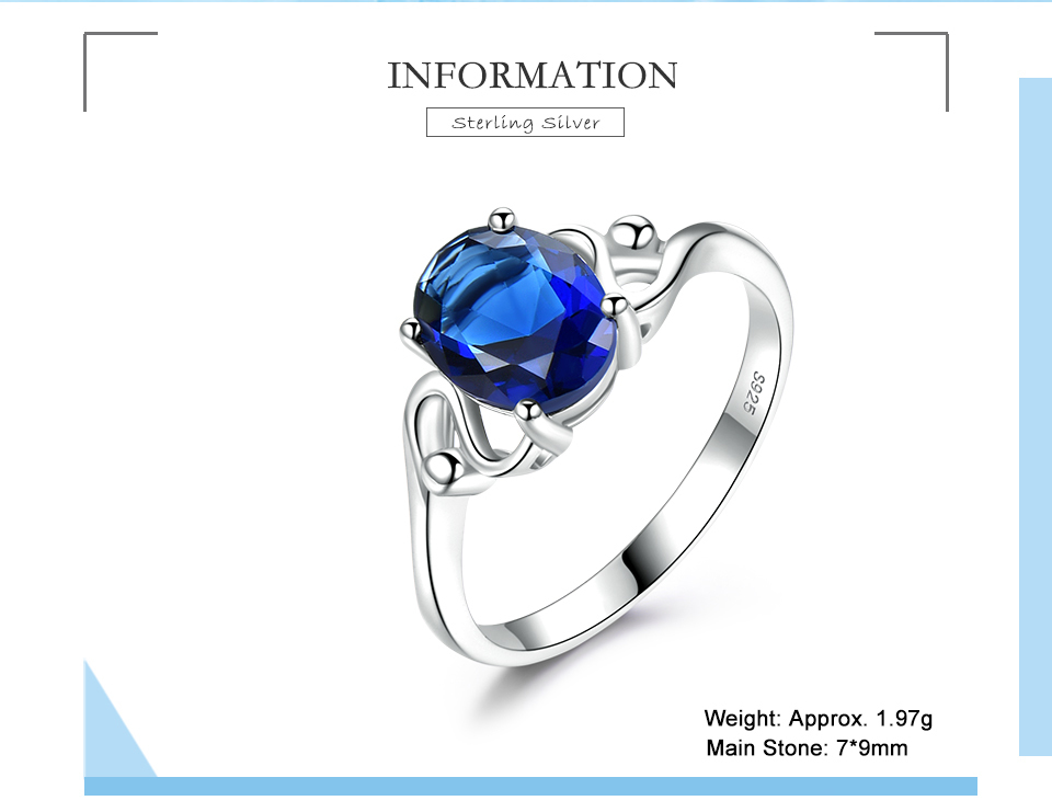UMCHO Sapphire 925 sterling silver rings for women RUJ089S-1-PC (2)