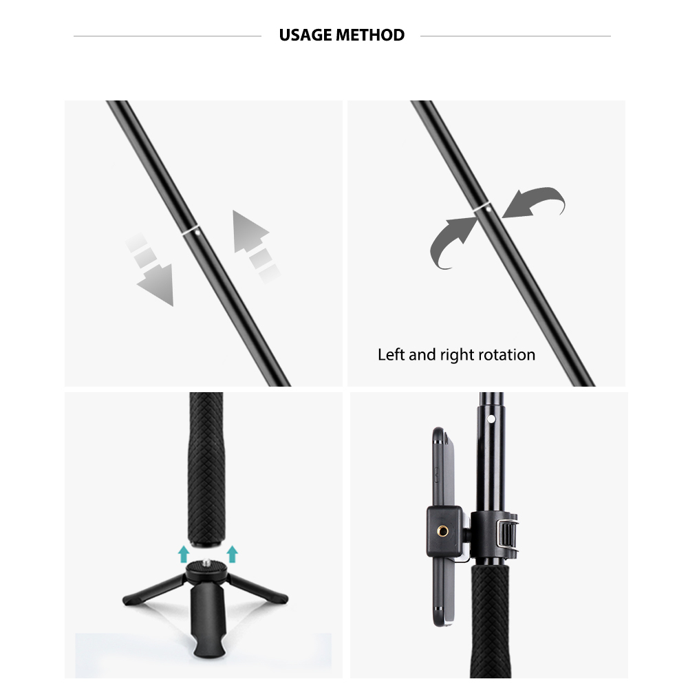 Vamson Accessories Tripod Monopod Adjustable Selfie Stick Gopro Hero 7 6 5 Xiaomi Yi Sjcam For Phone Vp422 Q190618