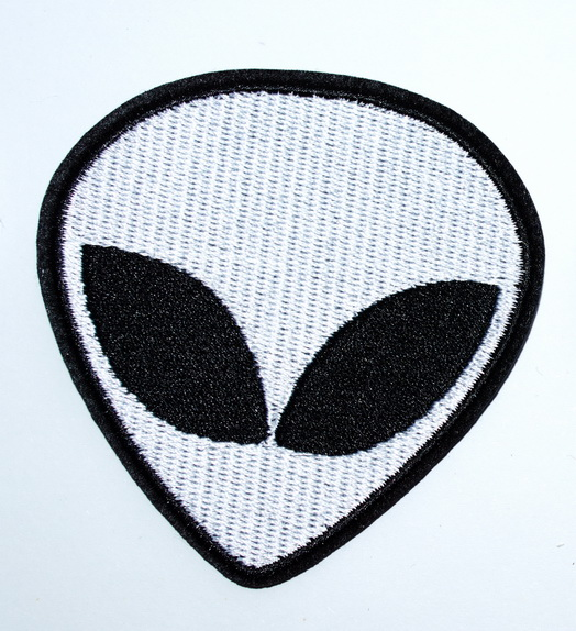 MOTORCYCLE BIKER JACKET PATCH  I WANT TO LEAVE ALIEN AREA 51 FUN Sew On IRON ON
