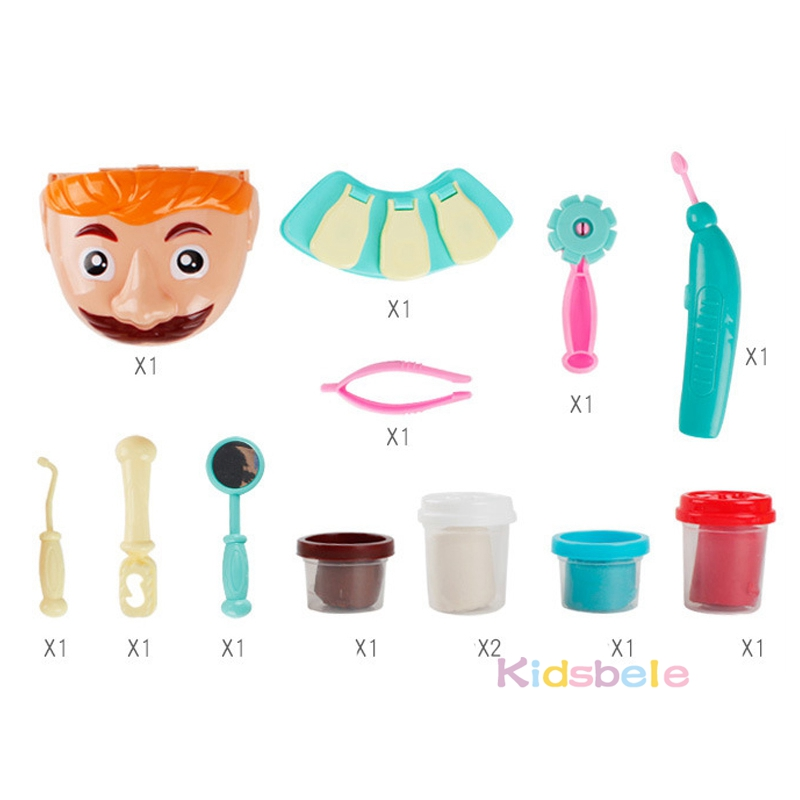 Pretend-Play-Toy-Dentist-Check-Teeth-Model-Set-Medical-Kit-Role-Play-Simulation-Early-Learning-Toys
