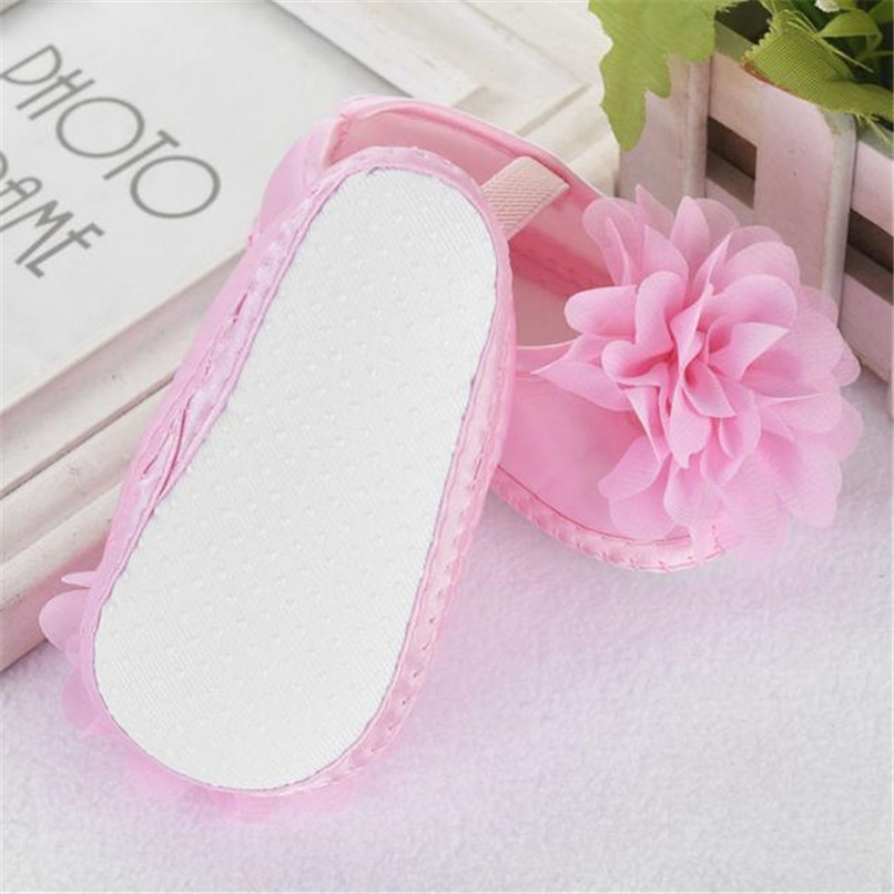 Toddler Kid Baby Girl First Walker Chiffon Flower Elastic Band Newborn Walking Shoes NDA84L16 (12)