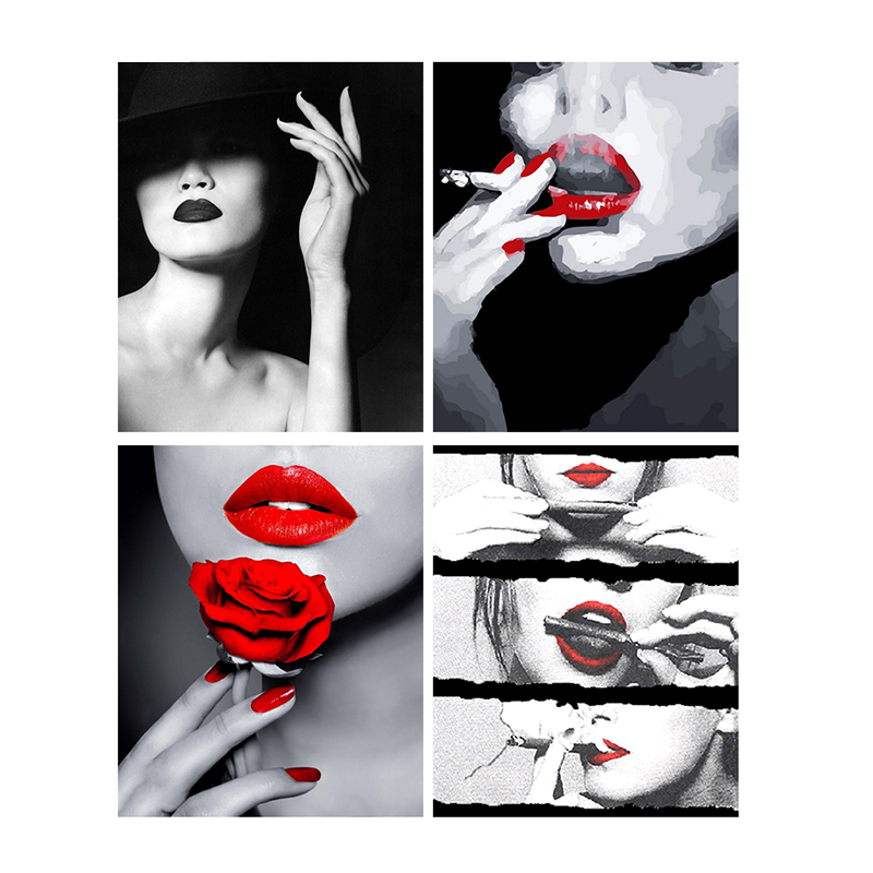 5D-DIY-Diamond-Painting-Smoking-Lady-Wall-Sticker-Full-Square-Diamond-Embroidery-Portrait-Series-Picture-of
