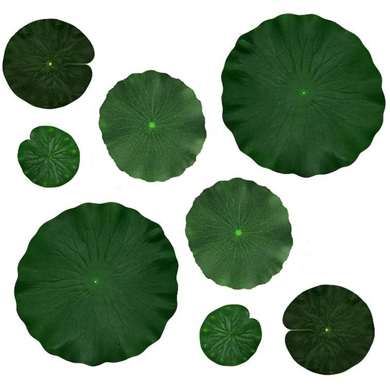 Artificielles en Mousse EVA Lotus Leaf Pad Fleur Nénuphar flottant piscine étang décoration