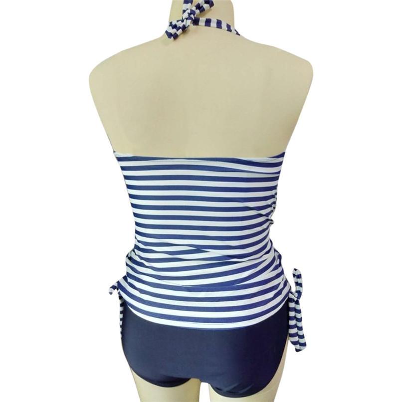 S-5XL Women's Swimwear Sexy Maternity Swimwear Pregnant Stripe Dot Bowknot Swimsuit Plus Size Beach wear Pregnant Suit JE14#F (6)