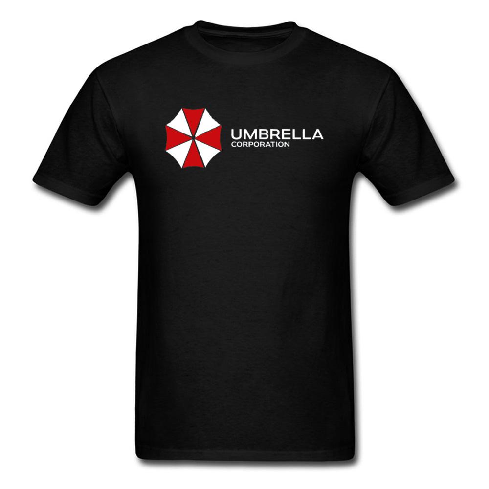 Gothic T-shirt Men Red Dead Tshirt Resident Evil Tops Biohazard Umbrella Corporation Tees 2019 New Gamer Cotton T Shirts Horror