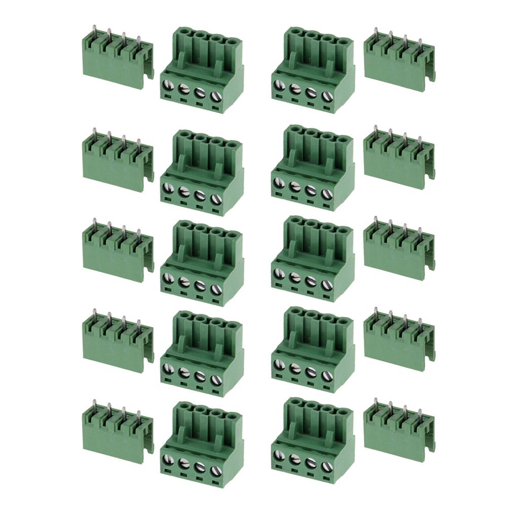 10x 2-Pin RCA plug RCA adapter Terminal block Screw connection Cinch