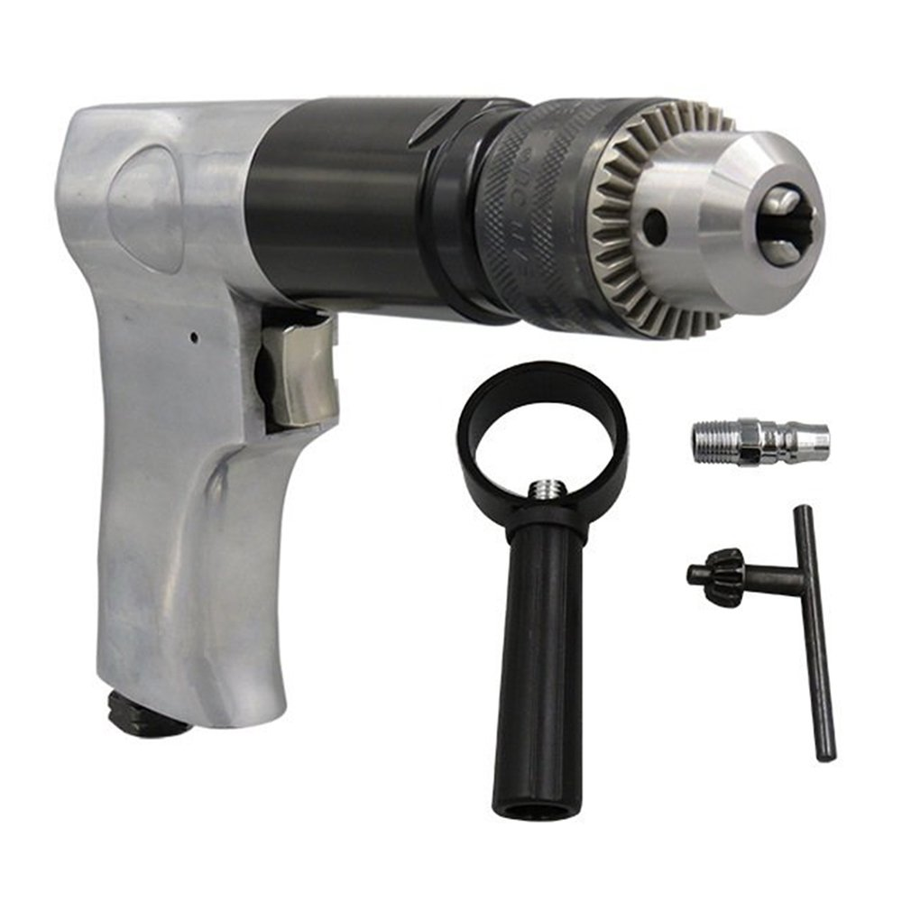 10mm Pneumatic Hand Drill Hand Tools Industrial Yadianna Portable Practica Pneumatic Handheld Pneumatic Tapping Machine High Torque Pneumatic Drill