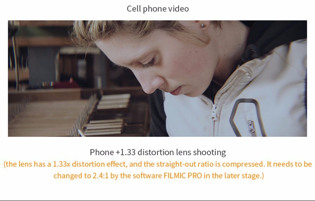 Universal Clip 1.33x Deformation Widescreen Phone Lens For Iphone Android Samsung, Htc, Lg, Nokia Phone#40 J190704