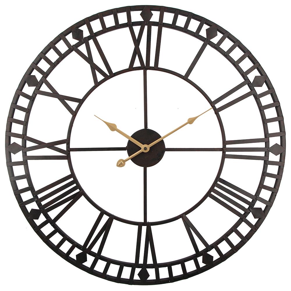 Grosse Horloge Fer Forgé horloge murale vintage 60cm grande montre clokc horloge industrielle en fer  forgé montre saat classique