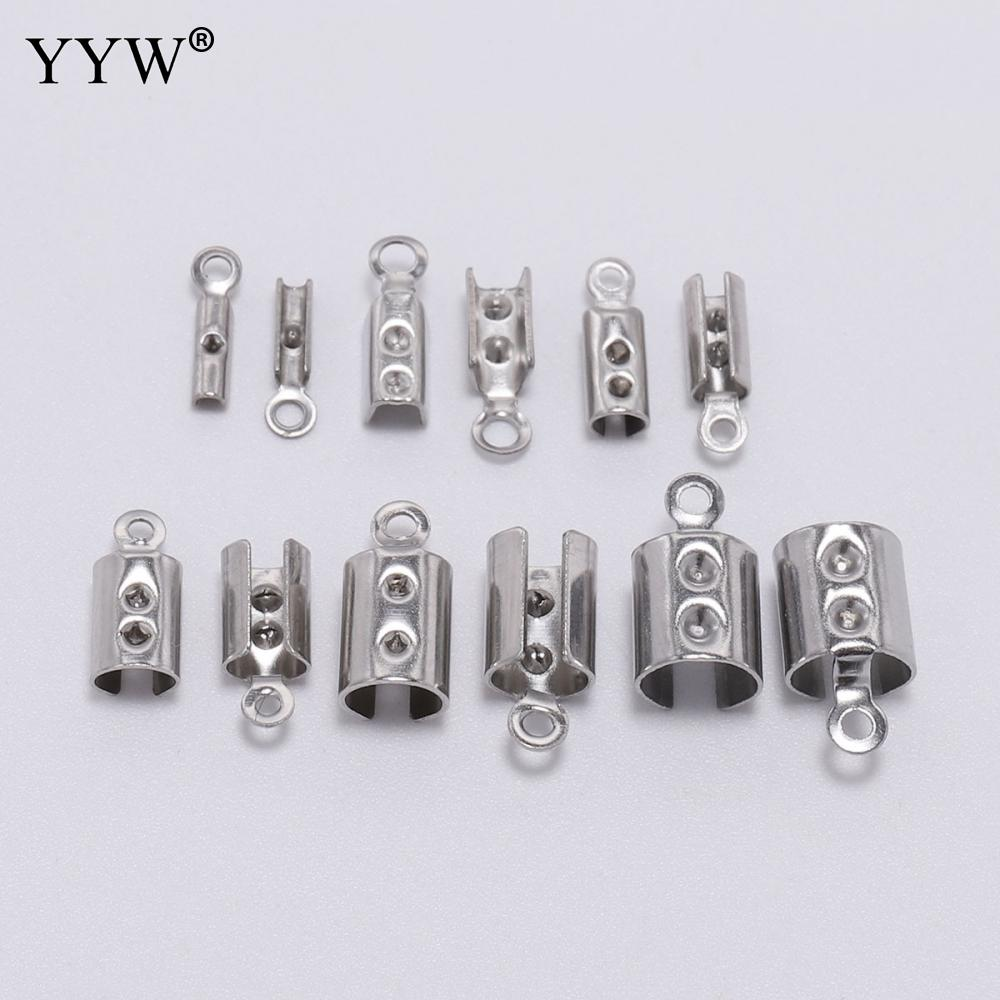 50 Pcs x Silver Plated Ribbon Ends Clasps 16mm x 8mm Findings Craft  F19