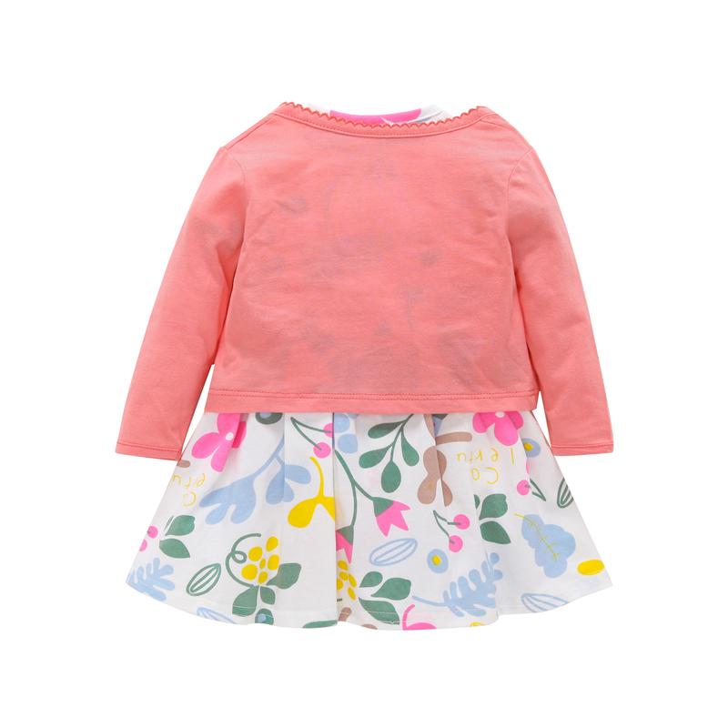 Langarm Mantel + liebevolle Herz Kleid Strampler Für Baby Mädchen Kleidung Set Sommer Neugeborenen Outfit Neugeborenen Anzug 2019 Mode Kostüm Y19061303
