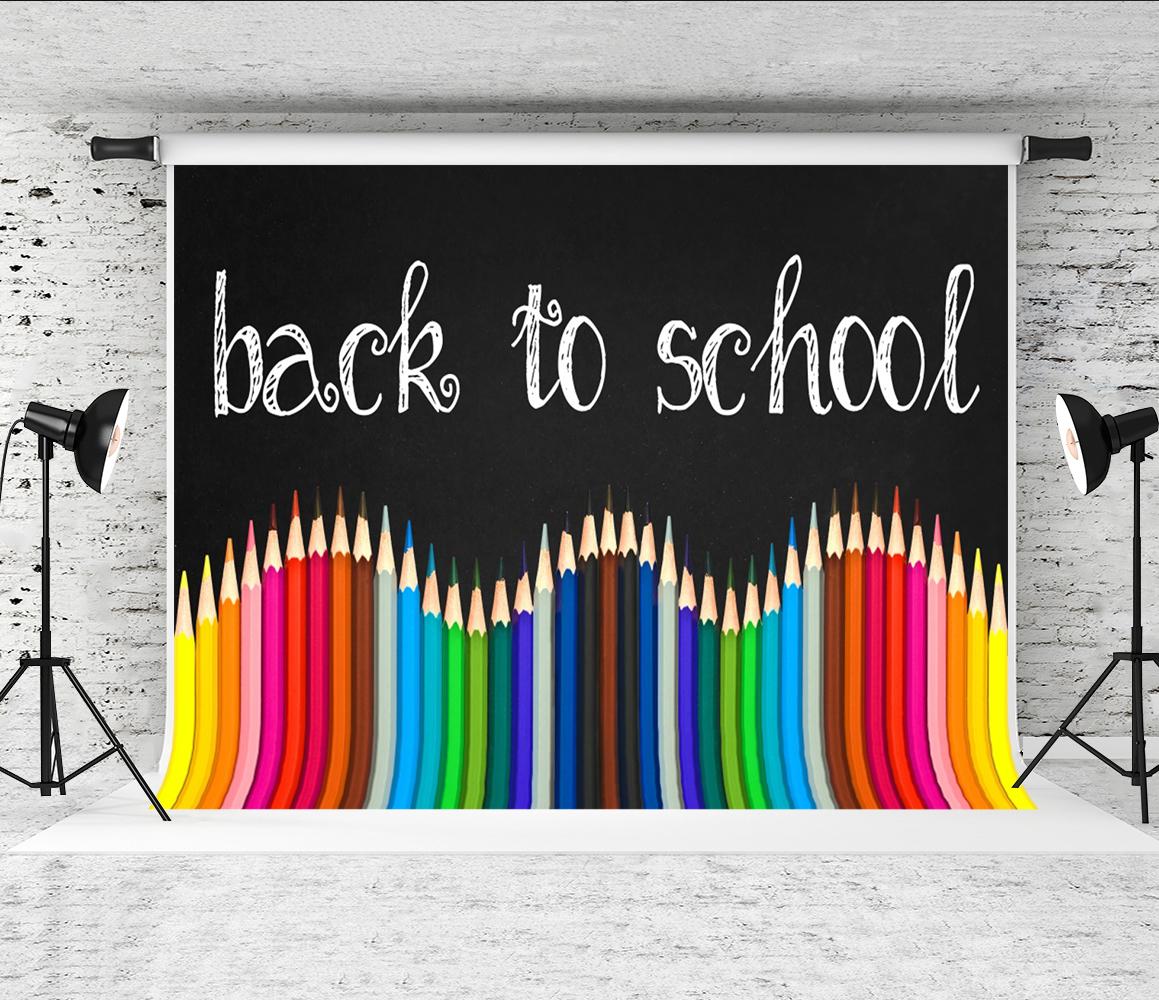 Back to School LAVAGNA GESSO LEGNO Fondale Vinile Foto di scena 5X7FT 150X220CM