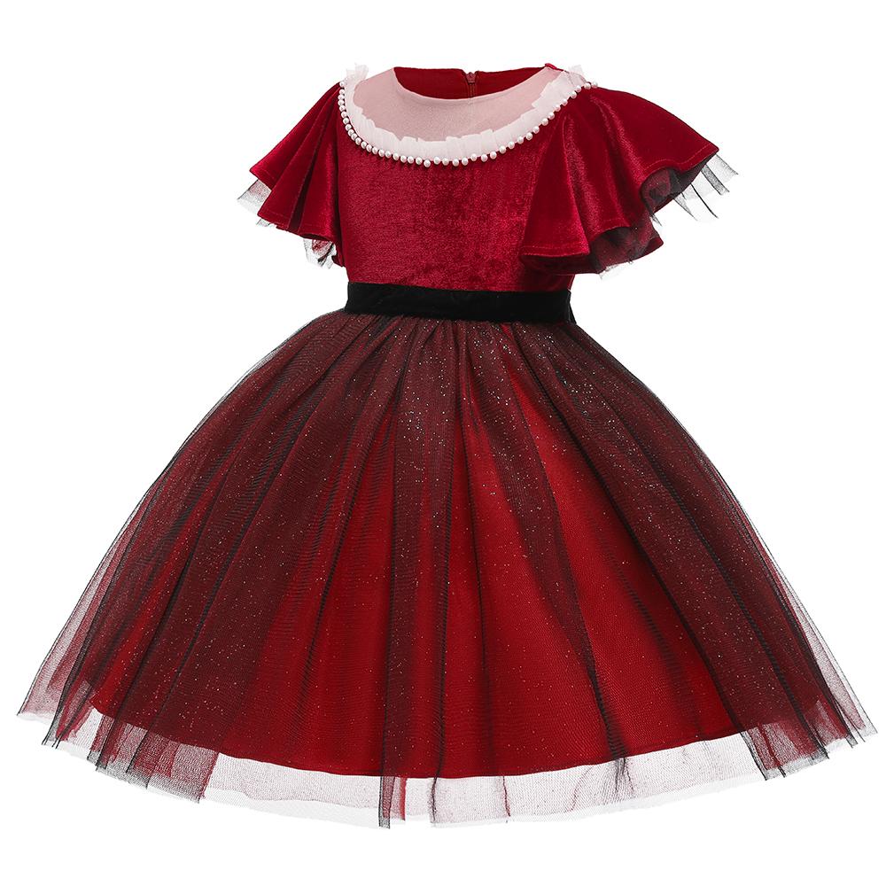 kinderweihnachtskleid farbe passende fly hülse mädchenkleid red festzug  kleider kleid mädchen der kinder für 4-12 jahre alte kinder