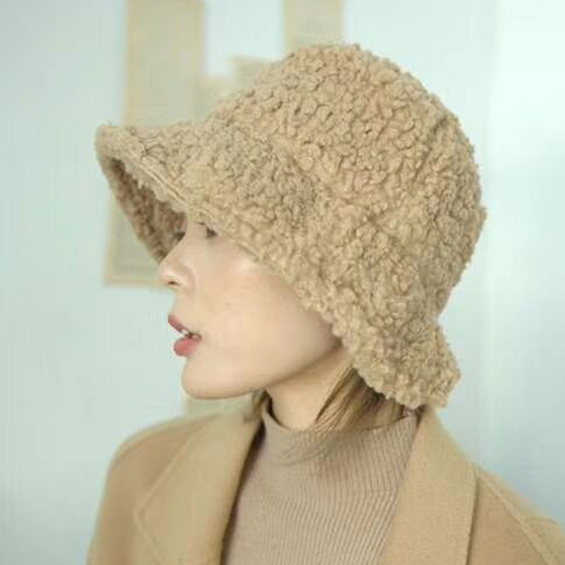 2019 Womens Hats for Autumn Winter Imitation Lamb Wool Soft Thick Caps Casual Hats