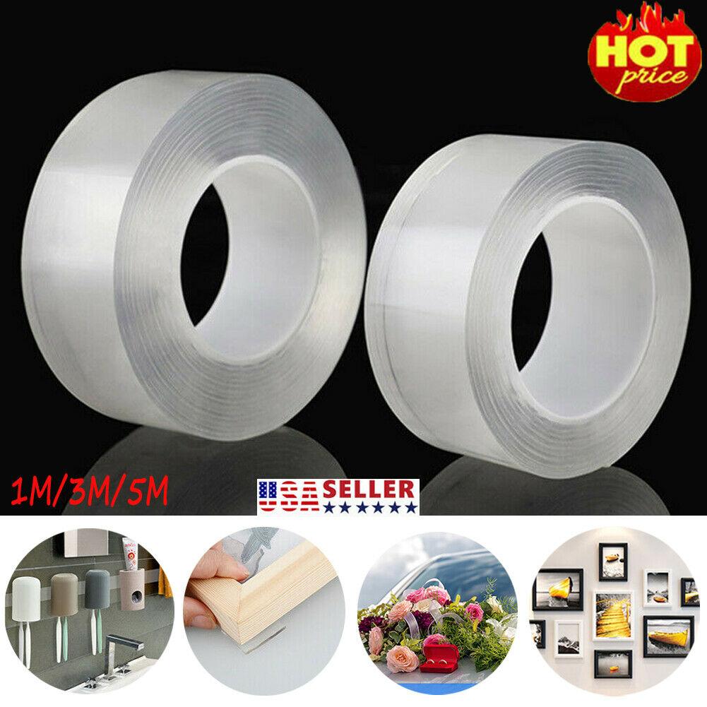 Traceless Nastro adesivo in silicone riutilizzabile forte Magic Gel Tape trasparente double-face rimovibile lavabile nastro adesivo antiscivolo multifunzione