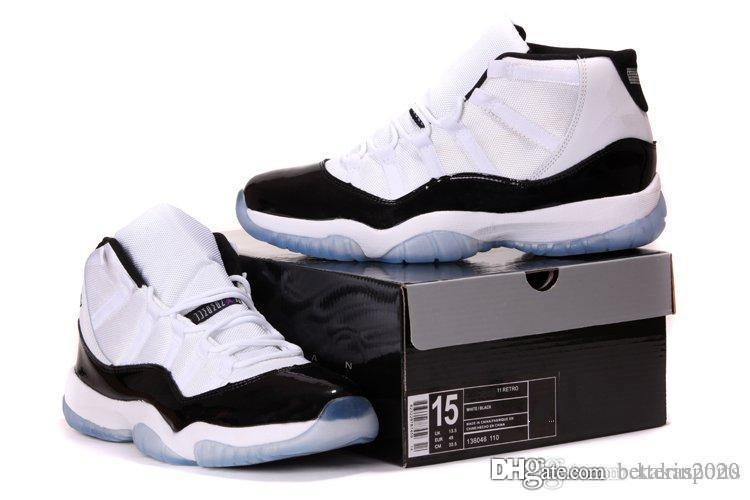 Grande taille Nike Air Jordan 11 Basketball Chaussures Hommes 11s BRED Concord Chaussures de sport Chaussures de sport Sports de plein air Big Size