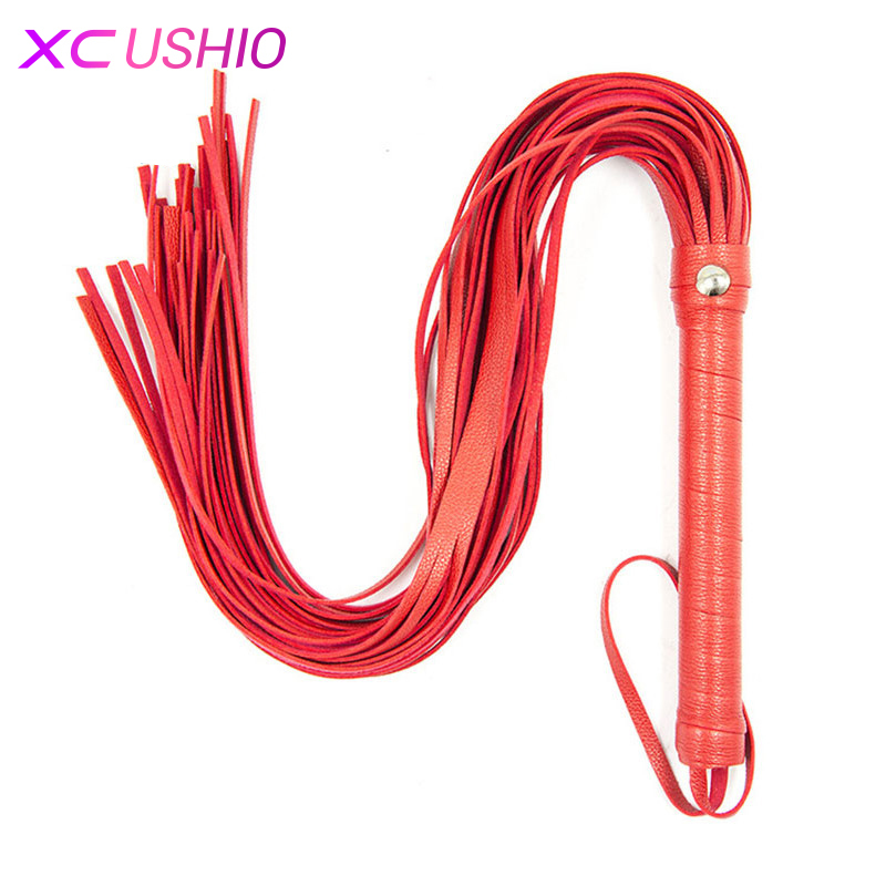 60cm Soft PU Leather Fetish Bondage Sex Whip Flogger Spanking Paddle Sexy Policy Knout Adult Games BDSM Sex Toys for Couples C18112701