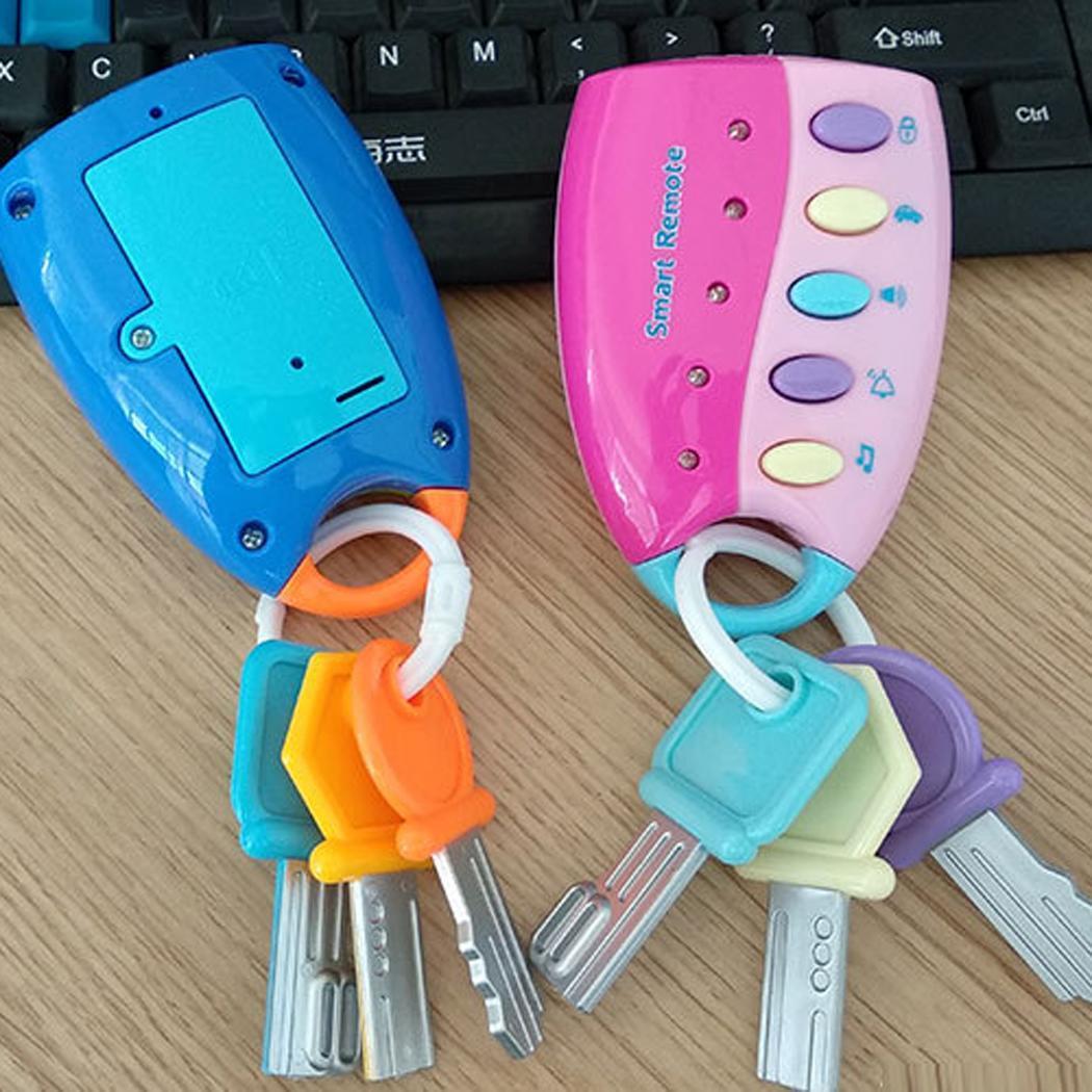 Fashion New Baby Musical Car Key Toy Smart Remote Control Pretend Play Education Toy New Fashion Car Key Toy