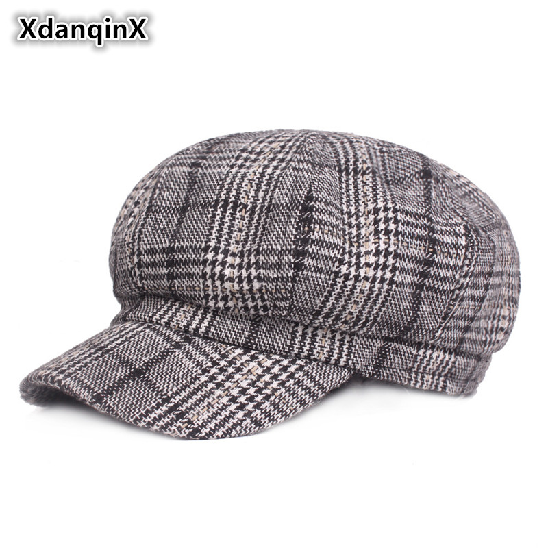 Autumn Spring Summer Womens Hat Retro Fashion Newsboy Caps Elegant Literary Young Female Hats Lady Cap