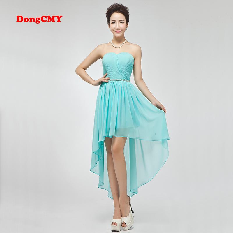 5d9241128dfc2 2019 Dongcmy New Design Short Design Vestio De Noiva Double Shoulder Girl  Bridesmaid Dress S19713 From Rui03, $65.69 | DHgate.Com