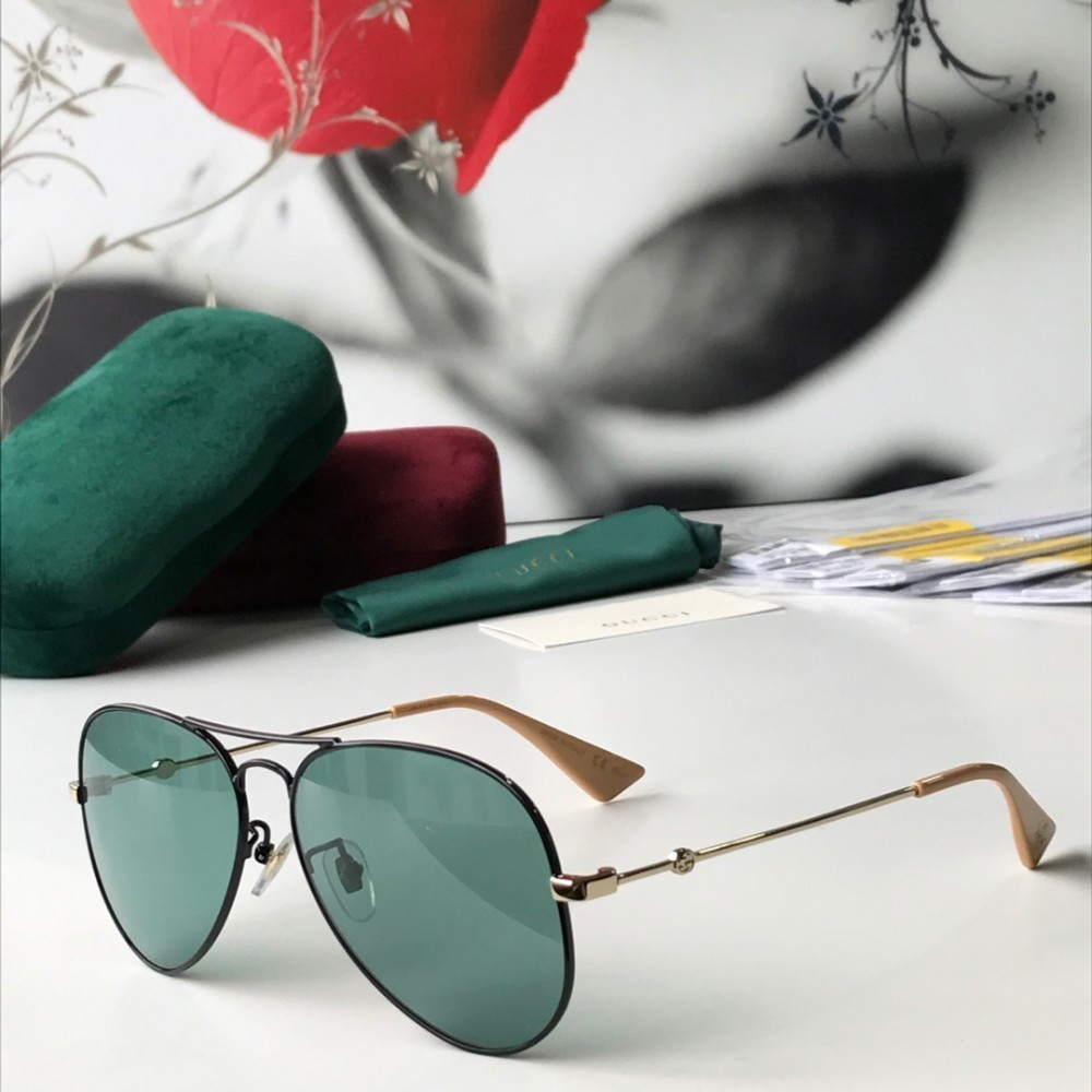 2019 summer women's sunglasses black metal frame with gold metal arm sunglasses sunshade excellent sunglasses