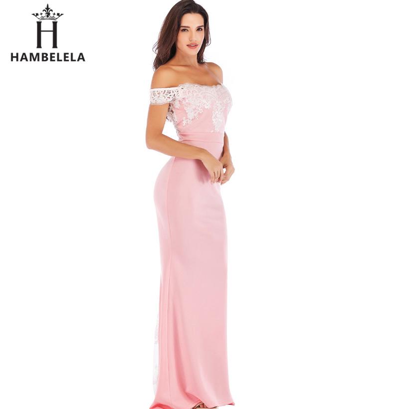 HAMBELELA Vestido De Festa Pink Black Red Mermaid Dress Lace Top Bodice Slim Long Formal Party Dress Charming Wedding Party Gown (15)