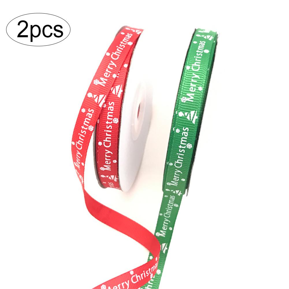 Noël rose flocon de neige imprimé gros-grain ruban festif noël papier cadeau ruban
