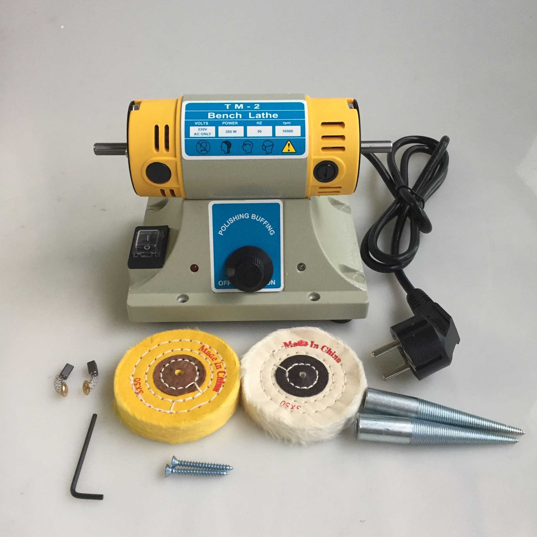 2*USA Mini Polisher Polishing Machine Dental Jewelry Lathe Bench buffing Grinder