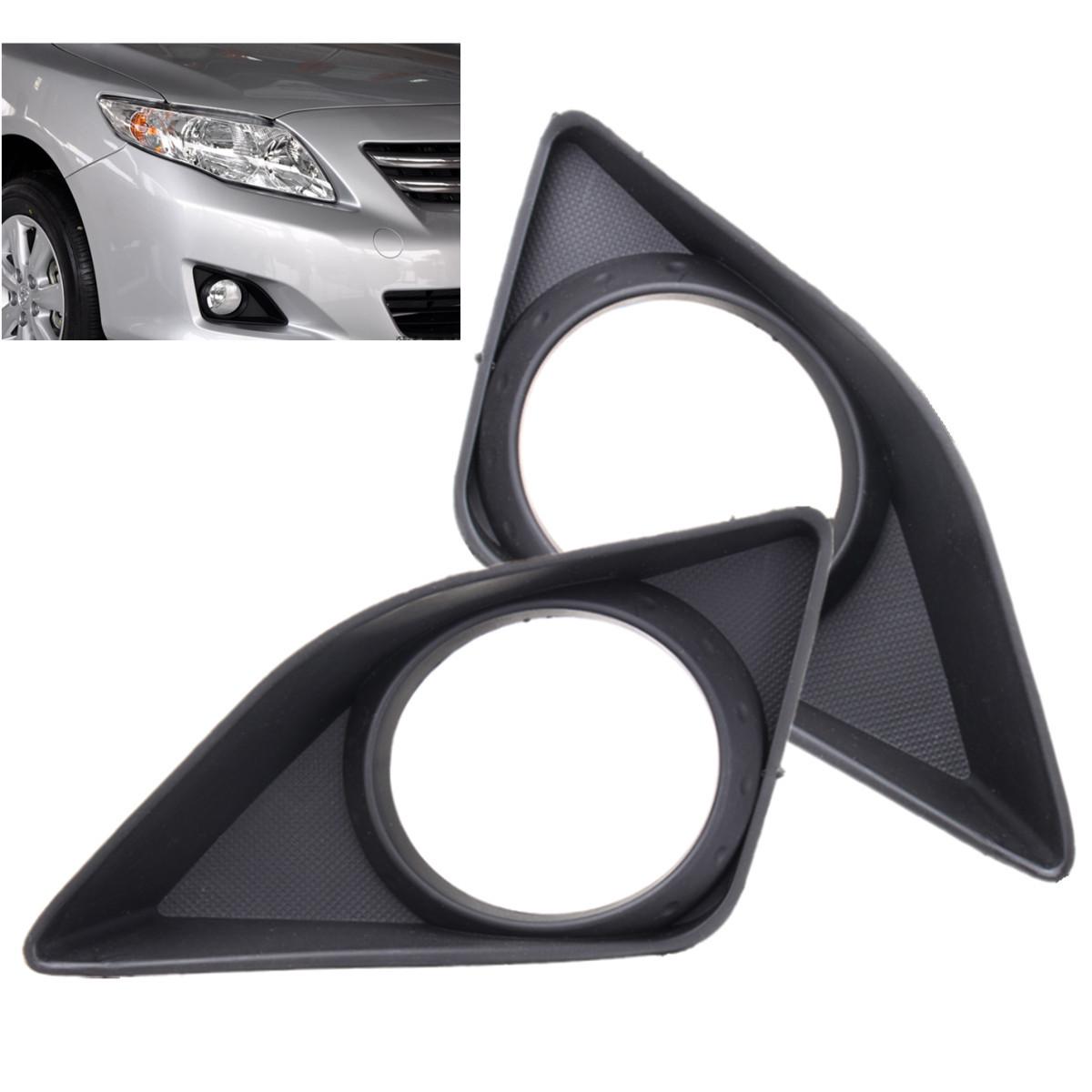 Пара Автомобилей Передние Противотуманные Фары Бампер Лампа Решетка Крышка Рамка Рамка Отделка Для Toyota Corolla 2007-2010