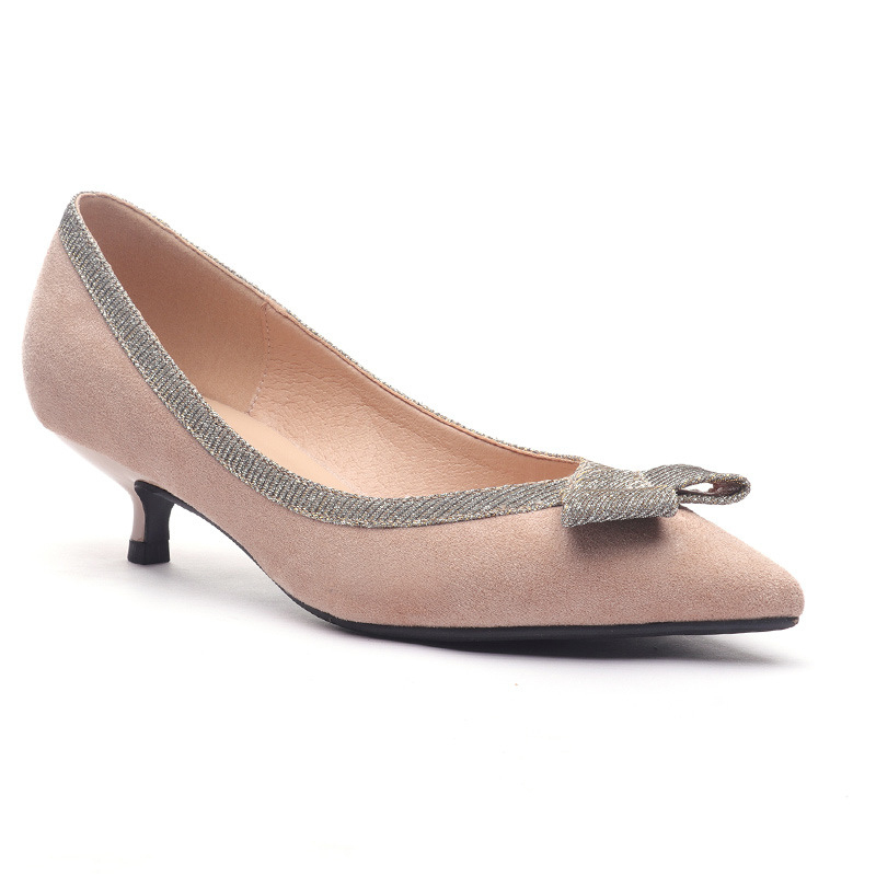 Goddess2019 Sapatos de Outono de Salto Alto Belas Mulheres Afiados Solteiros Baixo Com Trabalho Sapato Mulher