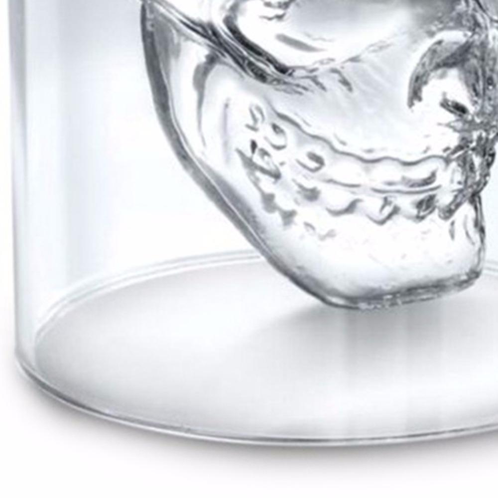 Cráneo de Halloween Doble Copa de Cerveza de Cristal Transparente Para el Bar Casa Cerveza Agua y Fiesta Gafas de Boda para Hotel Regalo