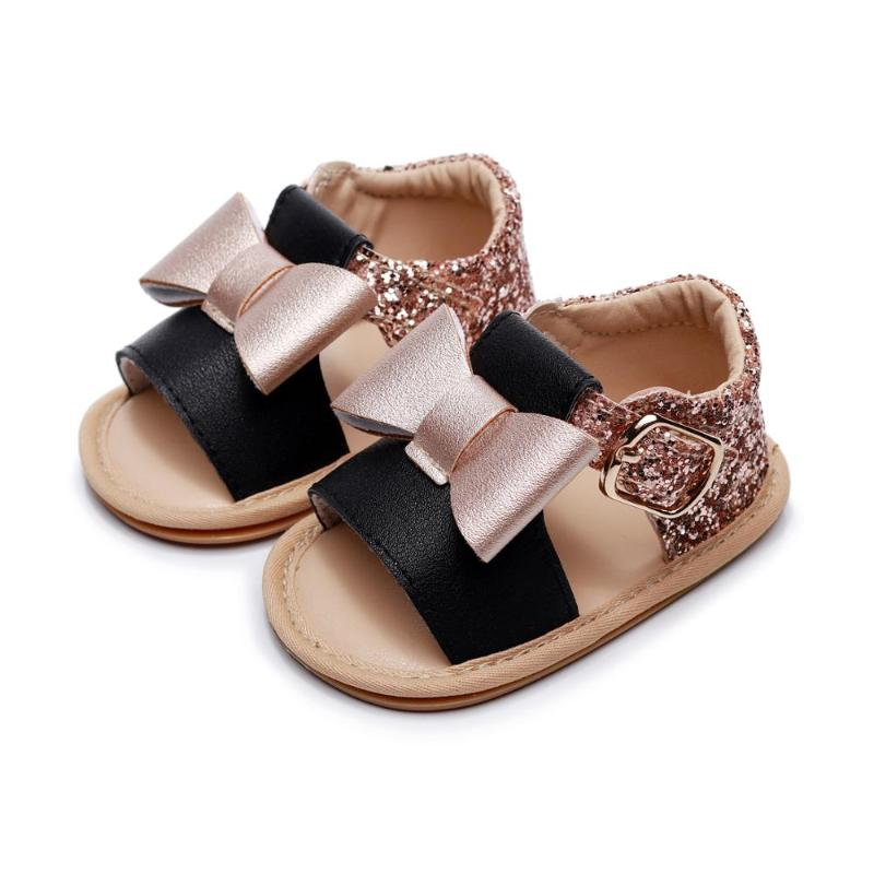 New Infant Toddler Girls Cute Shiny Sequins Rhinestone Bling Bootie Shoes  