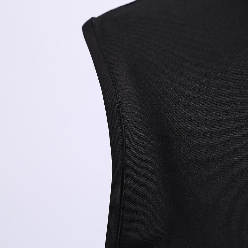 Donne Tuta Estate Solid O sexy del collo senza maniche Zipper Playsuit Clubwear Mar le donne del partito pagliaccetti 5