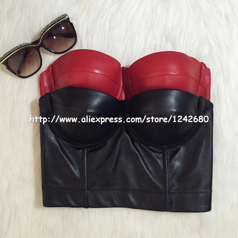 wholesale pu leather bustier