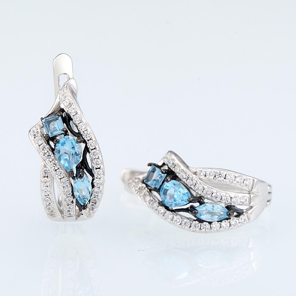 E304633SBLTZSK925-SV5-Silver Earrings