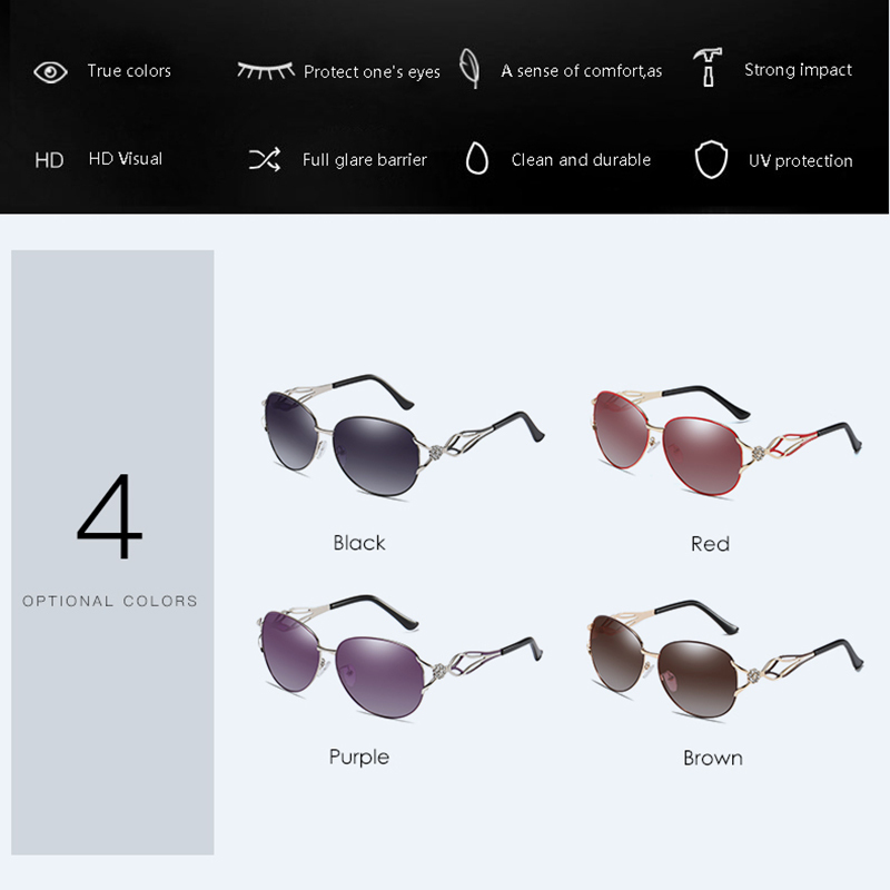 Banned Women's Hd Polarized Fashion Sunglasses Hot Sell Newest Brand Name Lens Feminin Diamond Sun Glasses Vintage With Gift Box MX190723