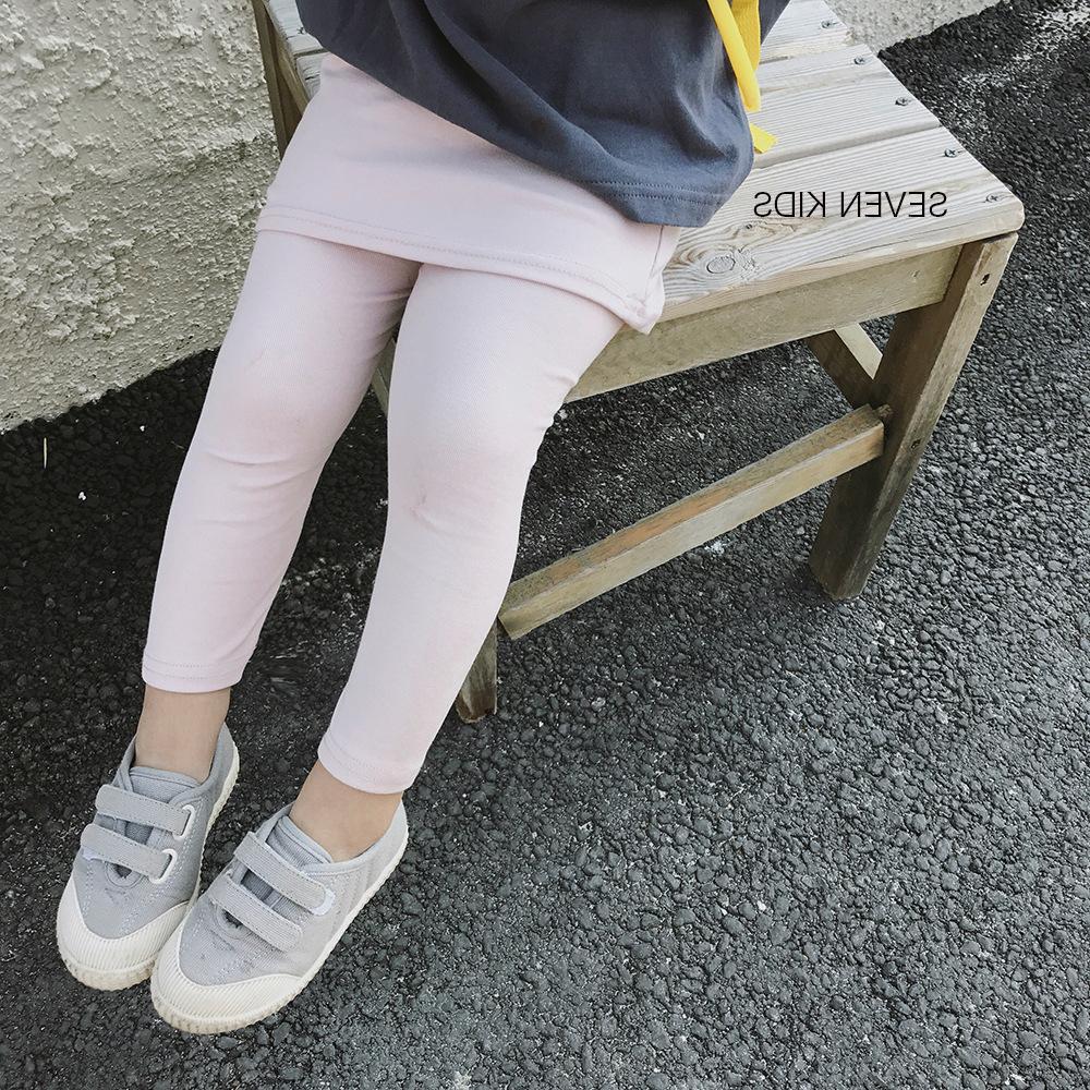 Wlg Printemps Filles Leggings Enfants Rose Coton Gris Gris Jupe Foncé-bébé Bébé Occasionnel Pendant Le Match Vêtements Vêtements Enfants 2 -6 Ans