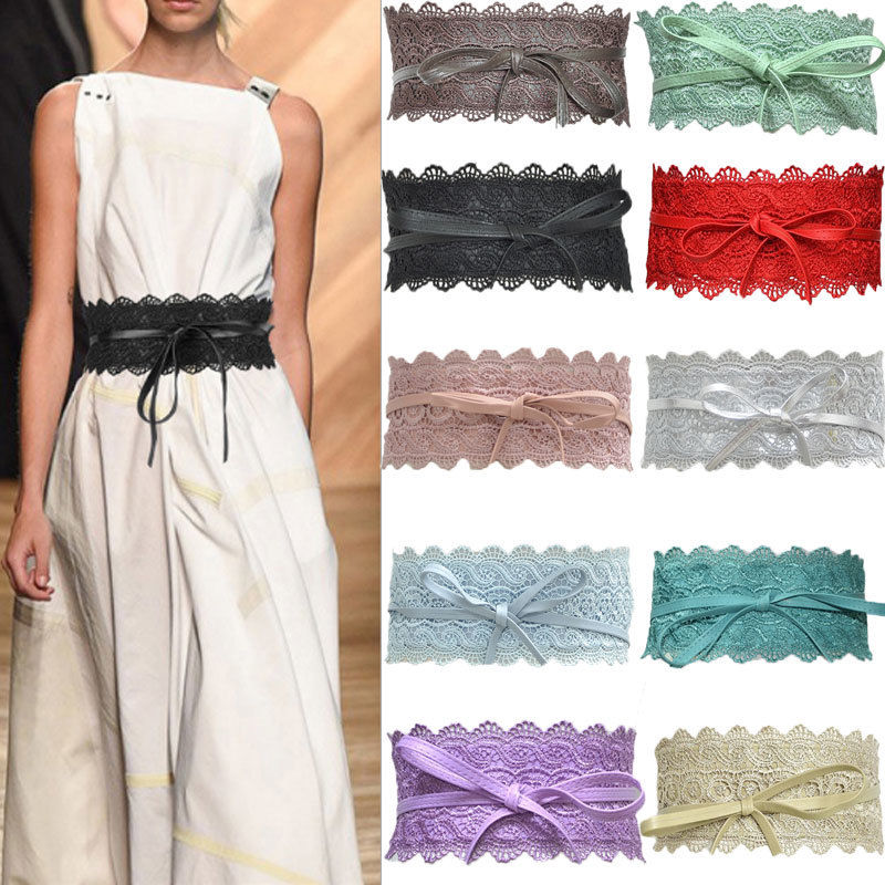 Lady rétro en velours Ceinture Bows OBI large Corset Bride Nœud De Cravate Wrap Robe wiastband