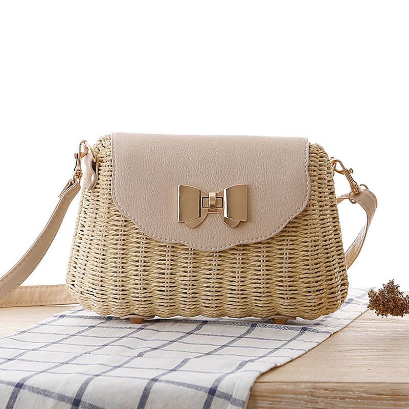 Women Straw Bag Female Bohemian Bali Rattan Beach Shoulder Bag Lady Handmade Candy Color Crossbody Bags Basket Bolsa SS3148 (4)