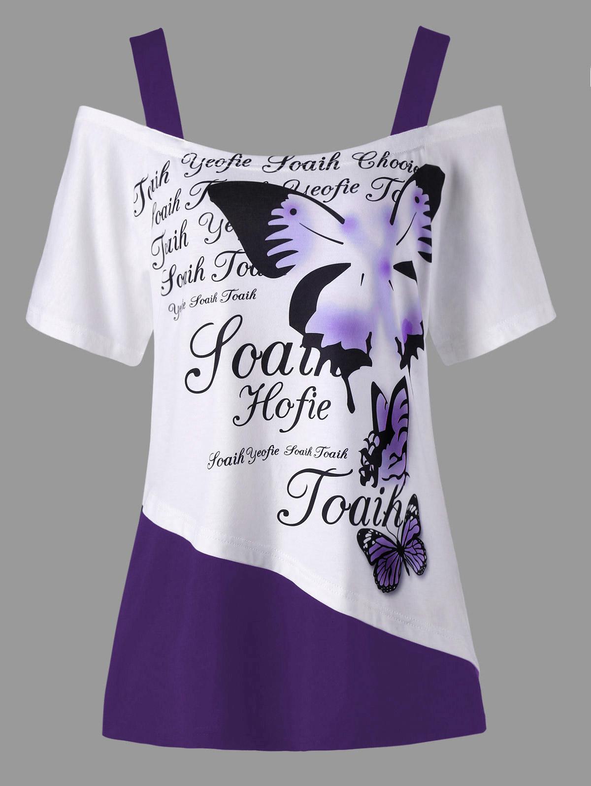 Para mujer Ropa de diseño para mujer camiseta del diseñador más señoras del tamaño Tops Flandes Carta hombro camiseta cuello en V tapas de las mujeres de cuello Camisetas