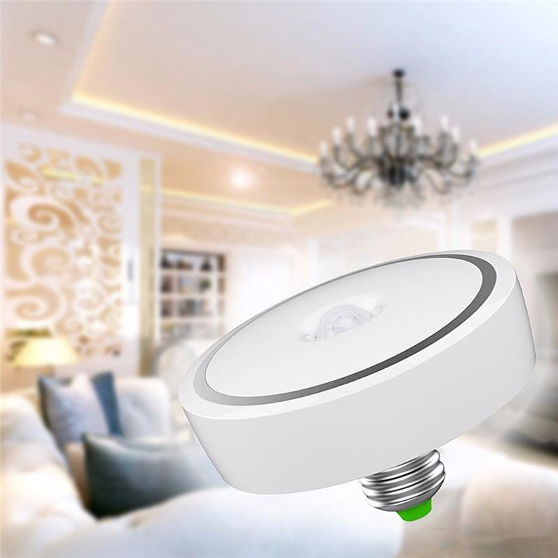 12W LED Microwave Motion Sensor Smart Outdoor Ceiling Wall Mount Light Lamp