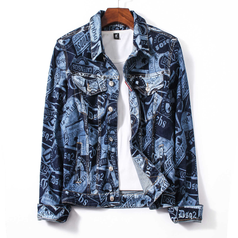 Großhandel Herren 2019 Marke Kleidung Jacke Jeansjacke Farbe Revers Herren Street Coat Mode Beliebte Buchstaben Kleidung Herren Kleidung JK 36 Von