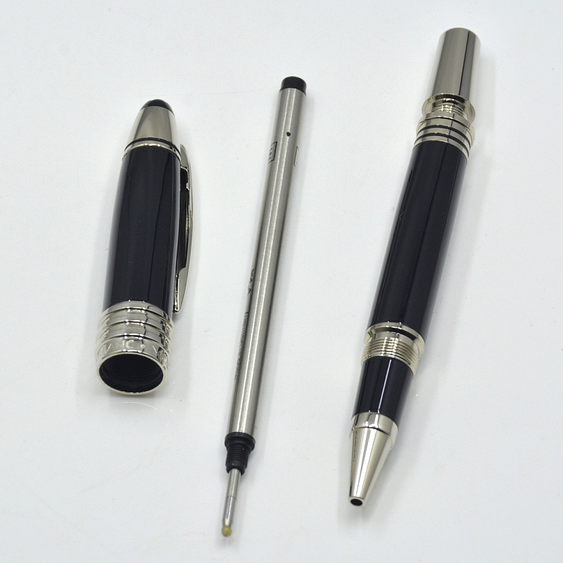 High quality John F. Kennedy Black Metal with JFK carvin Roller ball pen Ballpoint Fountain pens school office Business Stationery