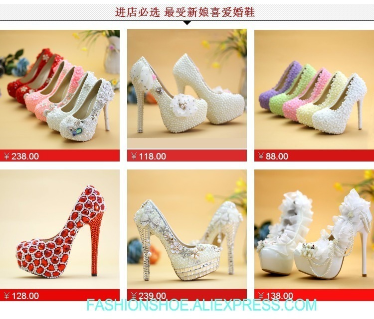 1cbb3426fb Shoes Wedding White Pearl Round Toe Evening Dress Wedding Shoes Bride Heels  Platform Waterproof Festival Gift For Wife Daughter Casual Shoes For Men ...