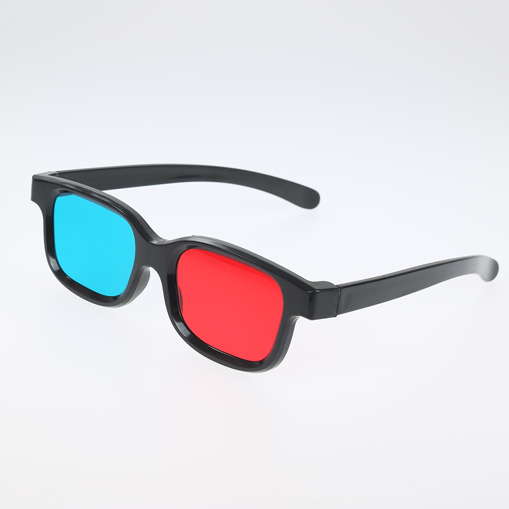 новый универсальный черный кадр Красный Синий Cyan Anaglyph 3D очки 0.2mm для Movie Game DVD 3D Пластиковые очки / óculos / Red Blue Cyan