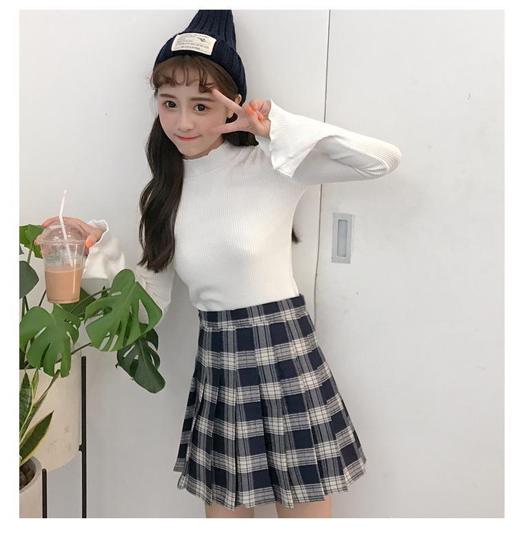 ff4ddd3a700386 Acheter École Japonaise À Carreaux Mini Jupe Plissée Étudiants Coréens  Uniformes De Vêtements Pour Fille Été Jupe Plissée Rouge Y19043002 De ...