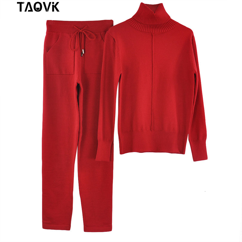 lined knit suit real photo (2)