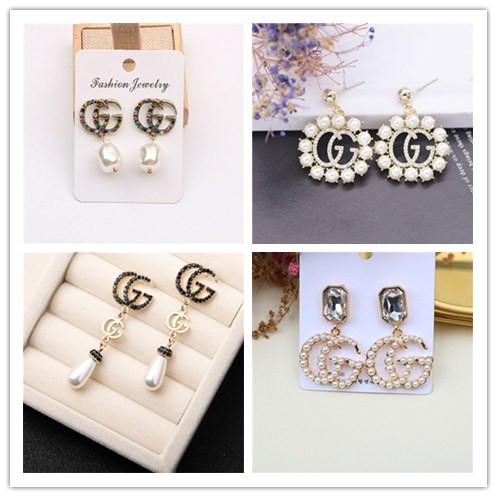 Gold Metal Chain Tassel Drop Ear Stud Earrings Women Luxury Elegant Jewelry Gift
